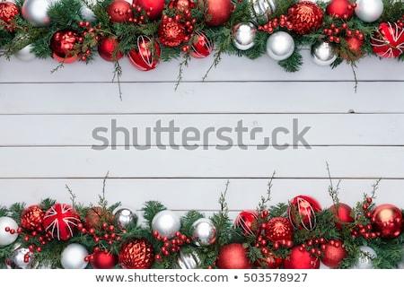 ストックフォト: 赤 · 白 · カラフル · ダブル · クリスマス