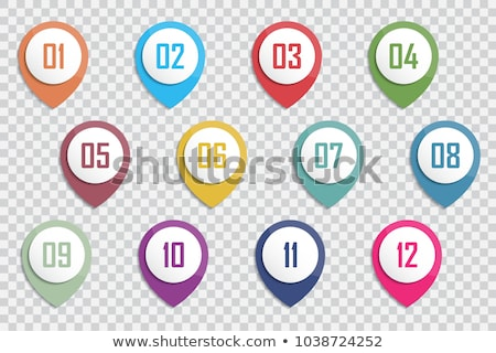 Map pointers with numbers set Stock photo © Oakozhan