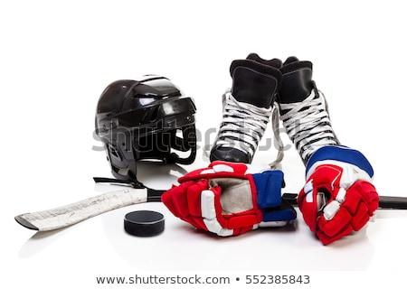 Hokey paten spor buz siyah Stok fotoğraf © AlphaBaby