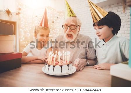 anniversaire · grand-père · grand · famille · célébrer · homme - photo stock © diego_cervo