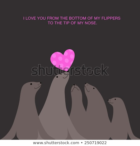 Minimalistic valentine's card illustration Stock photo © orson