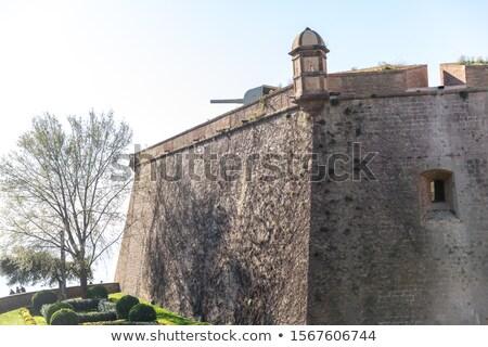 военных музее крепость Барселона горные Испания Сток-фото © frimufilms