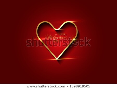 Kırmızı soyut kalp valentine hediye Stok fotoğraf © alexaldo