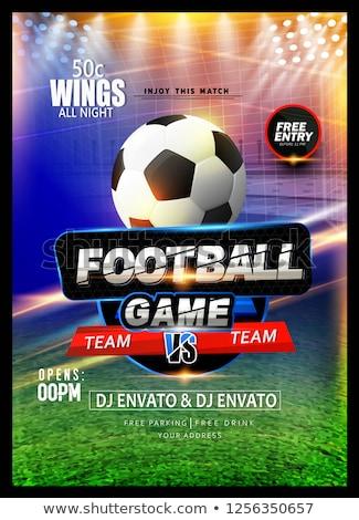 Fútbol torneo liga juego volante diseno Foto stock © SArts