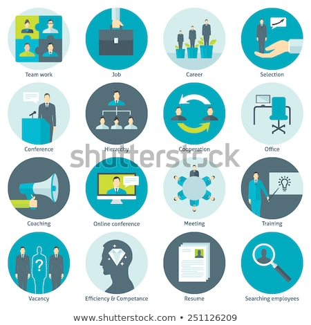 Stock photo: Business Coaching Icon Set. Online Learning.
