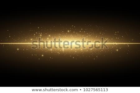 Izzó arany becsillanás hatás buli tűz Stock fotó © SArts