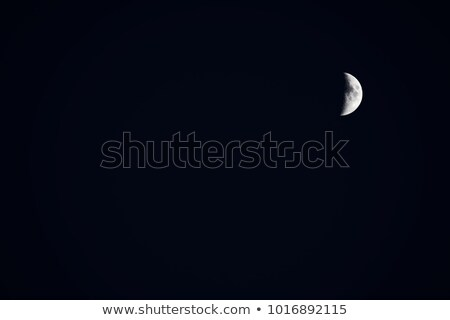 moon in first quarter phase with stars stock photo © noedelhap