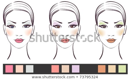 Womens Lips Painted Red Lipstick Vector Icon Stock photo © robuart