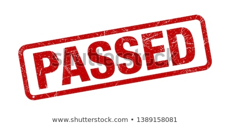 passed stamp checkmark sign and symbol Stock photo © SArts