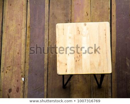 Felső kilátás szabadtér belső udvar keményfa parketta Stock fotó © stevanovicigor