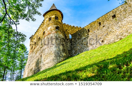 Tour anciens fortification pierre parc nuages Photo stock © simply
