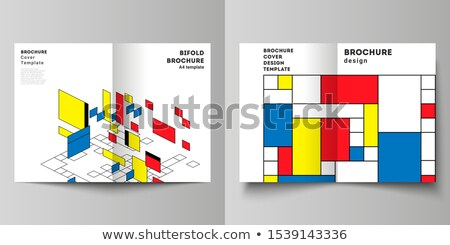 modern bifold brochure design template or magazine cover page de Stock photo © SArts