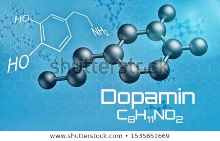 分子の モデル 3dのレンダリング 技術 エネルギー パターン ストックフォト © Zerbor