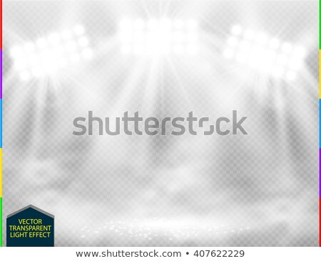 White vector spotlight with smoke light effect on transparent background. Concert scene with sparks  Stock photo © Iaroslava