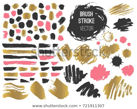 ink brush strokes set of paint spots hand made marker lines vector stock photo © andrei_