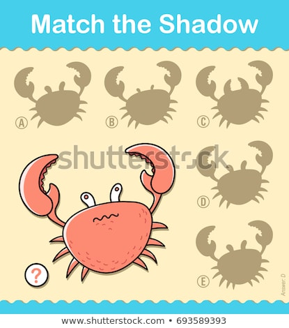 Kids entertaining puzzle game with a red crab Stock photo © adrian_n
