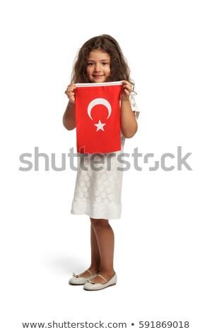 Turco menina vermelho roupa ilustração criança Foto stock © bluering