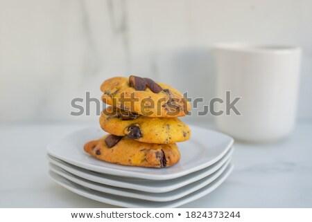 チョコレート · チップ · クッキー · 全体 · 孤立した · 白 - ストックフォト © icemanj