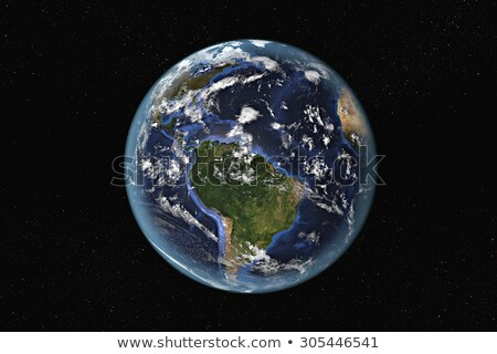 earth from space showing south america and the caribbean stock photo © timh