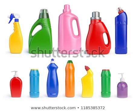 Bottiglia candeggina isolato cleaner bianco spazio Foto d'archivio © MaryValery