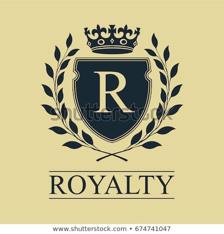Koninklijk embleem schild kroon laurier krans Stockfoto © pashabo