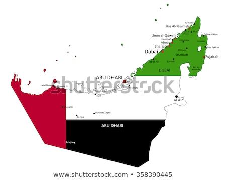 Объединенные Арабские Эмираты мира карта флаг 3d иллюстрации путешествия Сток-фото © Harlekino