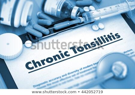 chronic tonsillitis medicine 3d illustration stock photo © tashatuvango