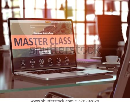 Landing Page of Laptop with Answers Concept. 3D. Stock photo © tashatuvango