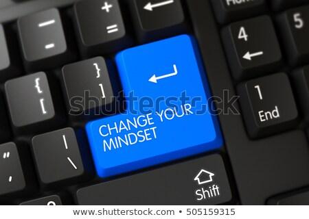 Transform Your Thinking - Modernized Key. 3D. Stock photo © tashatuvango