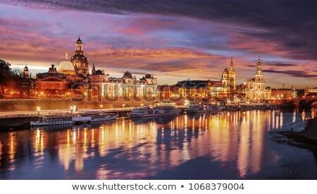 Dresden panorama at evening Stock photo © benkrut