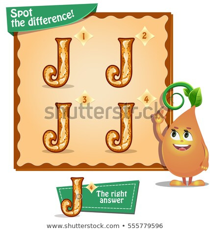 Stock photo: Spot the difference letters j