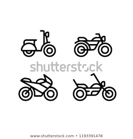 ícone motocicleta linear estilo motocicleta estrada Foto stock © Olena