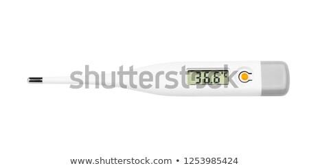 elektronikus · hőmérő · kilátás · afroamerikai · orvos · tart - stock fotó © digitalr