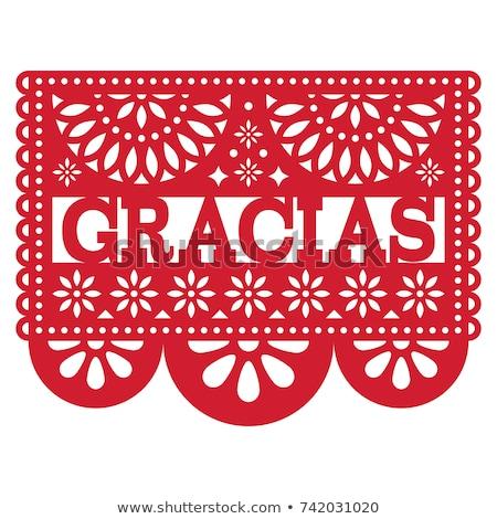 Mexikói vektor terv minta köszönjük kártya Stock fotó © RedKoala