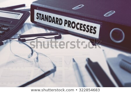 Standard Processes on Folder. Toned Image. Stock photo © tashatuvango