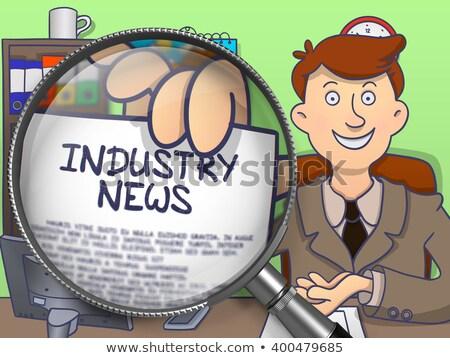 Manufacturing News through Lens. Doodle Style. Stock photo © tashatuvango