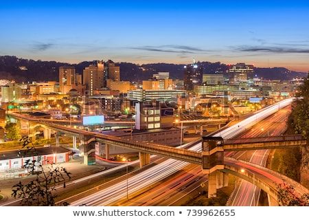 Highway to the west at night stock photo © tracer