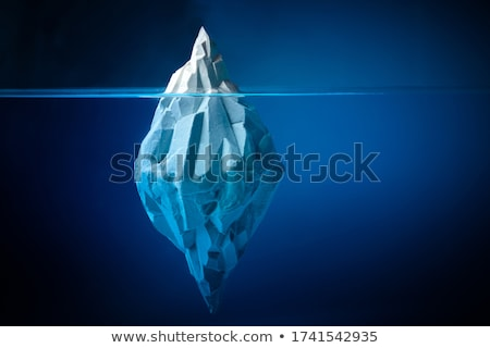 ponta · icebergue · flutuante · frio · ártico · oceano - foto stock © lightsource