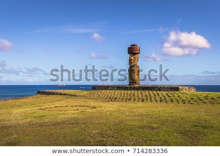 Ilha de Páscoa Chile Páscoa arte viajar pedra Foto stock © daboost