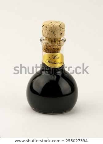 Hagyományos olasz balzsamecet izolált fehér üveg Stock fotó © stefanoventuri