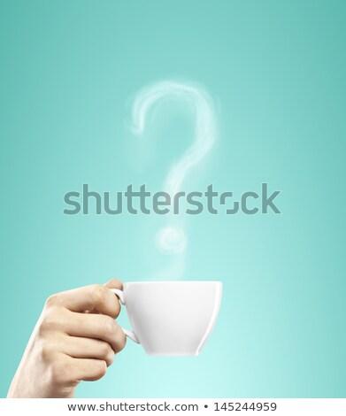 Znak zapytania mężczyzna ręce patrząc odpowiedź pytania Zdjęcia stock © stevanovicigor