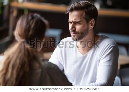 Desagradável conversa homem de negócios telefone móvel mão Foto stock © simply