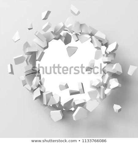 break in the wall destructive background Stock photo © studiostoks