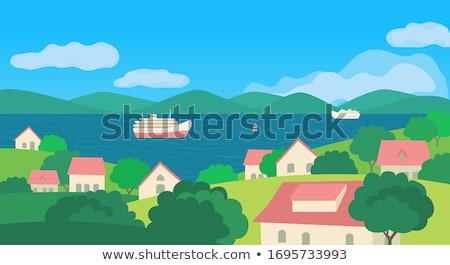Grass bank and flats Stock photo © IS2