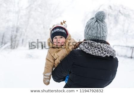 женщину два мальчики снега семьи любви Сток-фото © IS2