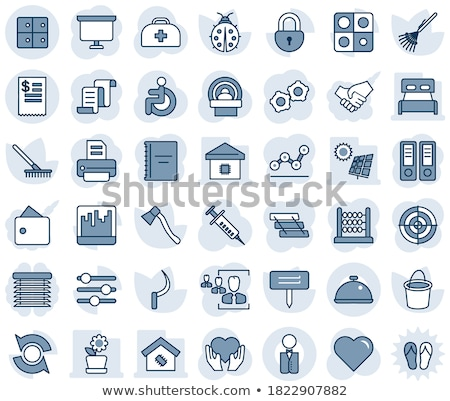 Hacha icono simple vector blanco diseno Foto stock © hamik