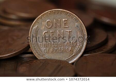 один цент монетами Финансы никто Сток-фото © IS2