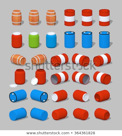 Barrel isometric icon, isolated on color background Stock photo © sidmay