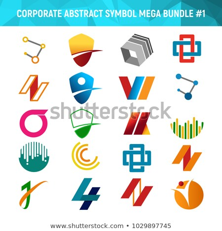 Corporate Abstract Symbol Mega Bundle Pack Design 1 Stock photo © svvell