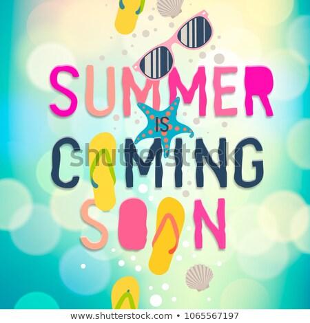 Zomer binnenkort zomervakantie poster sjabloon Stockfoto © ikopylov